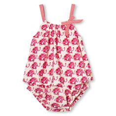 Happy by Pink Chicken for Target: Elephant infant romper