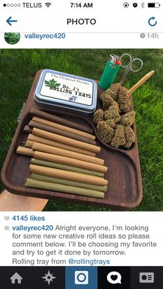 Blunts, joints, doobies and spliffs... Hmmm delicious. Thanks to valleyrec420 for this pic. Check him out on IG for some very creative rolls.! www.rollingtrays.com #weedtray #budtray #rollingtray #myrollingtray rules