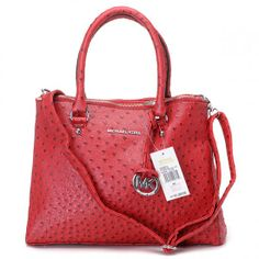 For My Holiday ,Michael Kors Hamilton,Michael Kors Hamilton Ostrich-Embossed Red Sale-154