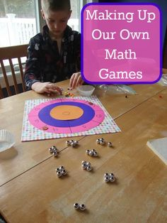 Our Unschooling Journey Through Life: A Little Bit of Work and a Whole Lot of Fun; Making Up Our Own Math Games!
