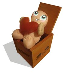 """""""I ♥ You"""" Warms Weird Gifts, Toy Chest, Storage Chest, Bookends, Fun Stuff, Plush, Characters, Warm, Toys"""