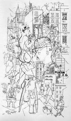 """Cross Section"" by George Grosz, 1920 by Austin Kleon, on Flickr"