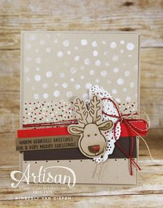 Learn how to use the Decorative Masks from Stampin' Up!  http://www.stampinbythesea.com
