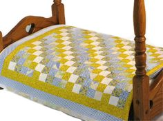 American Girl Doll Bed Quilt Blanket Bedspread by DollPatchworks, $28.00
