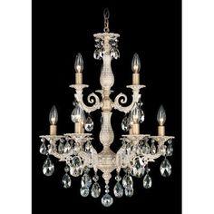Schonbek Milano 9 Light Crystal Chandelier Finish: Roman Silver, Crystal Color: Strass Silver Shade