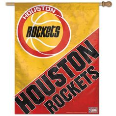 "Houston Rockets / Hardwoods Vertical Flag 27"""" x 37"""""