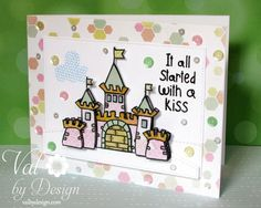 """""""It All Started with a Kiss"""" - Alley Way Stamps - ValByDesign"""