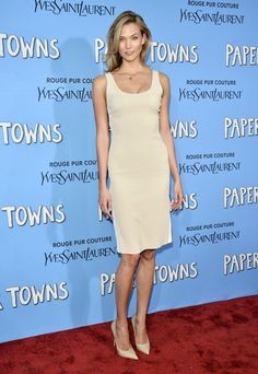 Karlie Kloss Wearing Calvin Klein Collection at the Paper Towns film premiere, New York