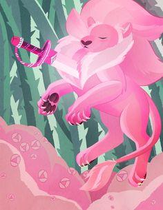 My art cartoon network rose quartz steven universe lineless steven universe lion