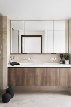 Photo 78 of 1027 in Best Bath Photos from 6 Insider Tips For Bathroom Design From the Experts - Dwell Bathroom Wall Decor, Budget Bathroom, Bathroom Interior Design, Bathroom Furniture Design, Bathroom Ideas, Modern Vanity, Modern Bathroom, Small Bathroom, Neutral Bathroom