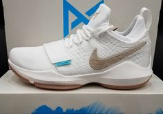 "Detailed look at the Nike PG 1 ""Ivory"" Paul George Shoes, Adidas Shoes, Sneakers Nike, Newest Jordans, Dream Shoes, Tennis Players, Cute Shoes, Basketball Shoes, Nike Free"