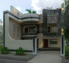Modern Elevation for small house Bungalow House Design, House Front Design, Modern House Design, Beautiful Buildings, Beautiful Homes, Modern Mansion, Modern House Plans, Simple House, Exterior Design
