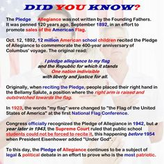 Pledge of Allegiance Facts Sheet