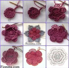 How to kniting crochet flowers