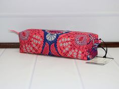 3e2e827d12 Box Pouch - Travel Toothbrush Pouch - Makeup Brush Bag - Cosmetic Case -  Floral Makeup Bag - Joel Dewberry Flora - Travel Gift for Her by  TalfourdJones on ...