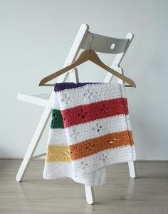 Funky fifties retro blanket: crochet pattern PDF by SoHappyInRed