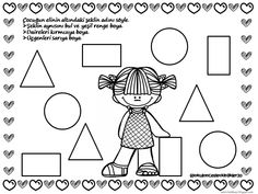 Kindergarten Math Worksheets, Classroom Activities, Geometric Form, Kids And Parenting, Coloring Pages, Preschool, Shapes, Projects, Geometric Fashion