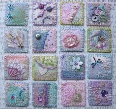 """Tiny, delicately stitched """"inchies"""" from Box of Tricks"""