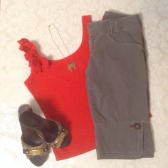 🎀Super cute gray long shorts Cute bermuda shorts with button and red thread details. Length: 22 inches. Make an offer or bundle for discount. All of my items come from a smoke-free, pet-free home. Check out my closet for free gift with purchase. Mossimo Shorts