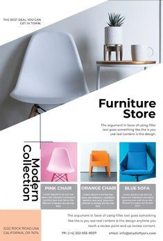 Download the Free Furniture Store Flyer Template! Free Psd Flyer Templates, Promotional Flyers, Sale Flyer, Sale Promotion, Furniture Sale, Things That Bounce, Party Flyer, Business Flyer