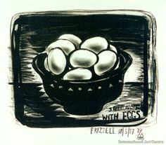 Dick Frizzell Still life with eggs (568×500)