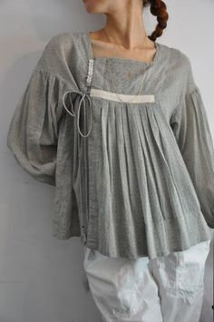 grey cotton tunic : gasa*grue : acoustics1F