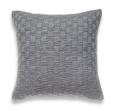 Basket Weave Knit Pillow Cover In Grey 16 inch Textured Wool Hand Dyed Linen. $48.00, via Etsy.