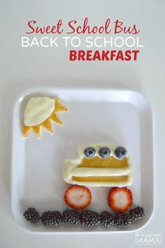 Sweet School Bus Back to School Breakfast for Kids - A Fun Recipe for the First Day of School! - B-Inspired-Mama - Sponsored by #PicturePerfectPlate