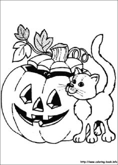 pumpkin patch coloring page, children playing in a pumpkin field ... - Halloween Pumpkins Coloring Pages