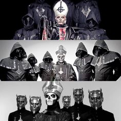 Ghost through the years Band Ghost, Ghost Bc, Heavy Metal Rock, Heavy Metal Bands, Doom Metal Bands, Rock Bands, Ghost In The Machine, Lol League Of Legends, Creepy Art