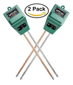 Veezy 3Way Soil Moisture Analyzer PH Tester and Light Meter Gauge Function measures pH Acidity Moisture  Sunlight for Gardening Farming Indoor  Outdoor 2 probes No battery needed 2 packs ** Be sure to check out this awesome product.