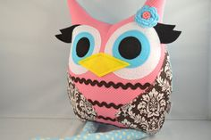 Owl pillow plush by bellamina (Etsy)- To be used in Laney's 1st year pics