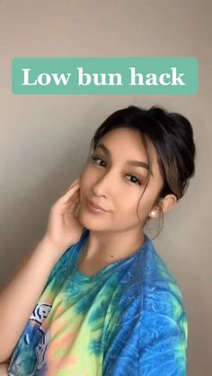naomi_arbide( on TikTok Easy low bun hack ❤️ Easy Hairstyle Video, Easy Hairstyles For Long Hair, Girl Hairstyles, Hairstyles Videos, Girls Hairdos, School Hairstyles, Braided Hairstyles, Oily Hair Hairstyles, Hairstyle Short Hair