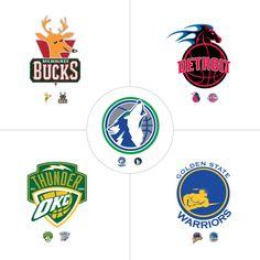 NBA old school + modern hybrid logos, by Torrey Anderson