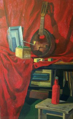 Oil Painting on Board, size: 120x70 cm