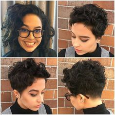 Pixie Cut with Undercut for Thick Curly Hair