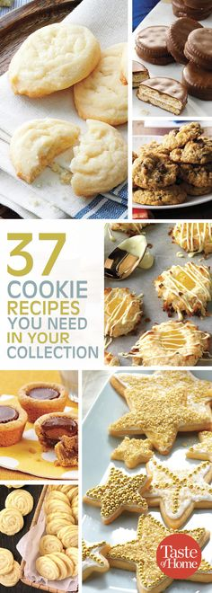 50 Top-Rated Cookies for Your Recipe Box Our best cookie recipes have earned top ratings from home cooks far and wide! Best Cookie Recipes, Gourmet Recipes, Baking Recipes, Dessert Recipes, Meal Recipes, Snacks Sains, Savoury Cake, Cookie Desserts, Yummy Cookies