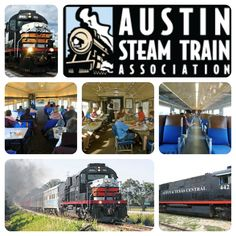 Favorite Fall Activities #8: Take a train ride on the Austin Steam Train.  Ride back in time in vintage passenger cars on a trip from Cedar Park into the Hill Country. Trains depart from Cedar Park on Saturdays and Sundays. Several different trips are offered, from the popular Hill Country Flyer to the seasonal North Pole Flyer, sure to be a hit with the kids.