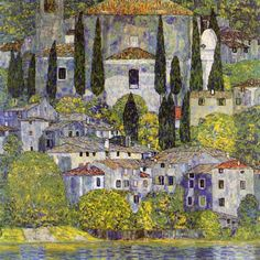 Gustav Klimt - Church At Cassone Sul Garda - art prints and posters