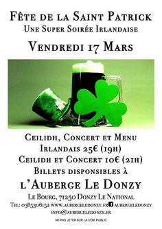 Fête de la Saint-Patrick le 17 mars 2017 à Donzy-le-National : http://clun.yt/2lILqkc