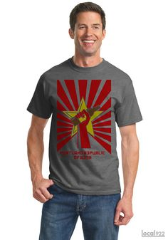 Portland Republic of Beer - Men's 100% Cotton T-shirt as Featured on #PORTLANDIA