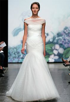 Wrapped dress with a sexier silhouette. City wedding.