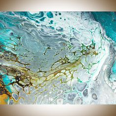 Abstract painting Acrylic pour fluid art fluid painting original artwork canvas art acrylic Painting fluid acrylic by qiqigallery