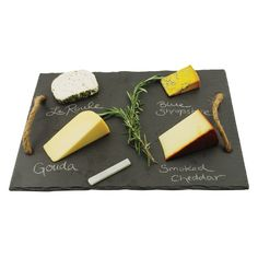 Rustic Slate Cheese Board - Throw a wine & cheese party just like in the Wine Country! Being a hostess has never been so easy with the Vintage & Vine Slate Board; the slate is a beautiful display for Slate Board, Slate Cheese Board, Cheese Boards, Wine And Cheese Party, Wine Cheese, Gouda, Cheese Platters, Cheese Table, Wine Parties