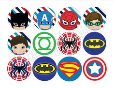 Superhero Theme Printables