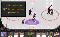 NHL 95 gameplay (PC)