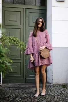 Chloe flats - shop for chloe flats on wheretoget Classy Outfits, Chic Outfits, Dress Outfits, Cute Dresses, Casual Dresses, Summer Dresses, Summer Fashion Outfits, Fashion Dresses, Gingham Dress