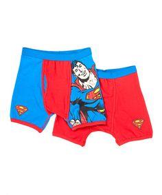 Vintage Superman Boxer Briefs Set - Boys #zulily #zulilyfinds