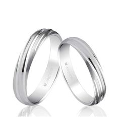 Alianzas de boda Oro 1ª Ley 18Kts. blanco 4mm Argyor ref. 5B40266 18K