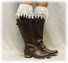 BKS3 DIVINE ELEGANCE in Ivory, Laciest, most Elegant lace boot sock ever* I want, I want and I want.